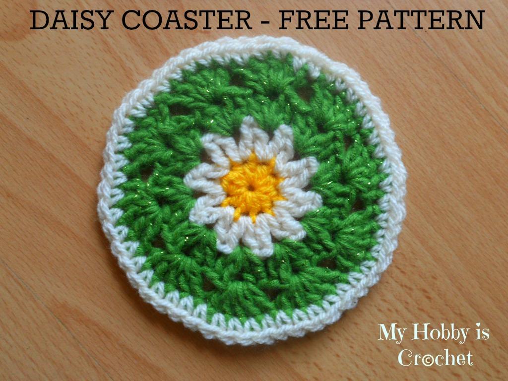 Free Crochet Daisy Coaster Pattern : My Hobby Is Crochet: Crochet Daisy/Flower Coaster - Free ...