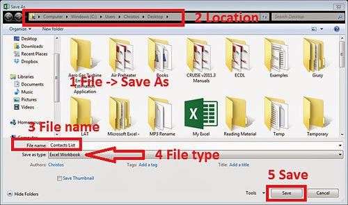 Save CSV File As XLSX File