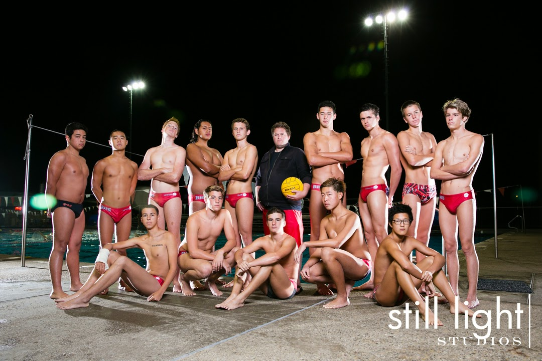 Burlingame High School Boys Water Polo Team Photo by Still Light Studios, School Sports Photography and Senior Portrait in Bay Area, cinematic, nature