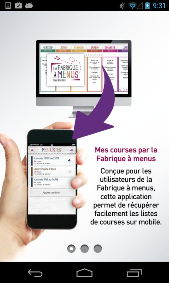 Composer ses menus avec La Fabrique à menus