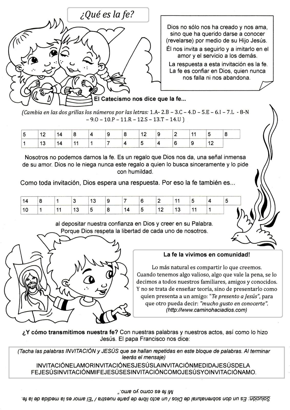 Dorable Páginas Para Colorear De Fe Para Niños Friso - Dibujos Para ...