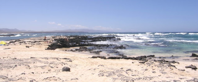 Nude beaches El Cotillo lagoons (Fuerteventura, Spain)