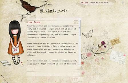 Mi Diario Vivir Blogger Template