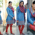 Neeti in Sky Blue Georgette Salwar