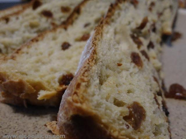 Pan de mango y pasas