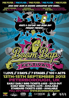 Boom Bap Hip Hop Festival - 13/14/15th Sept &gt;&gt;