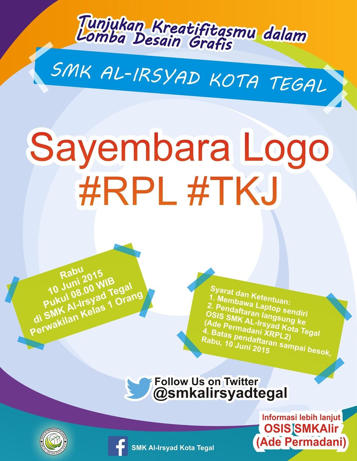 Contoh Brosur Lomba Desain Grafis Sayembara Logo Format CDR   Download ...