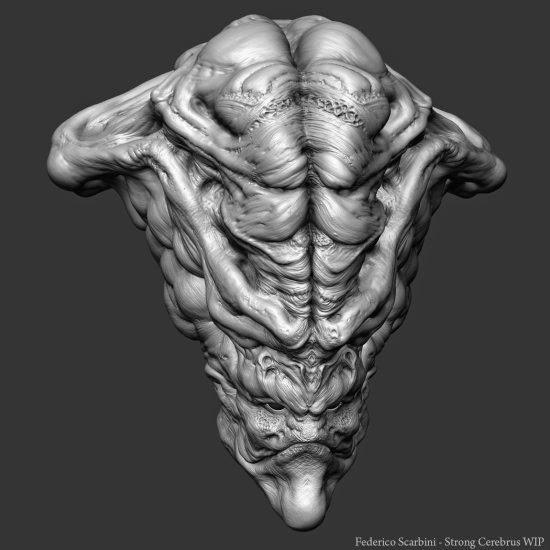 Federico Scabini modelos 3d esculturas digitais ilustrações fantasia ficção científica alienígenas