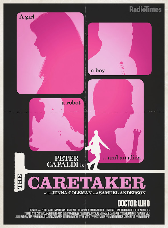 Doctor Who The Caretaker retro poster