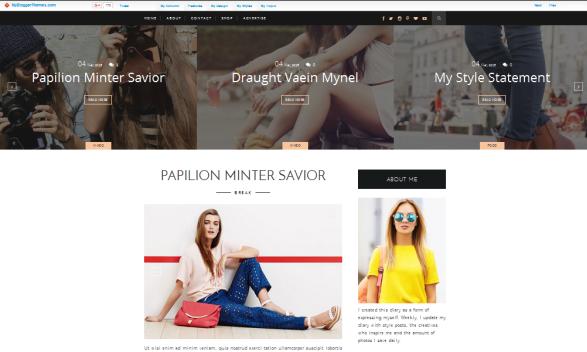 Life Fashion Clean, template cantik untuk blogger