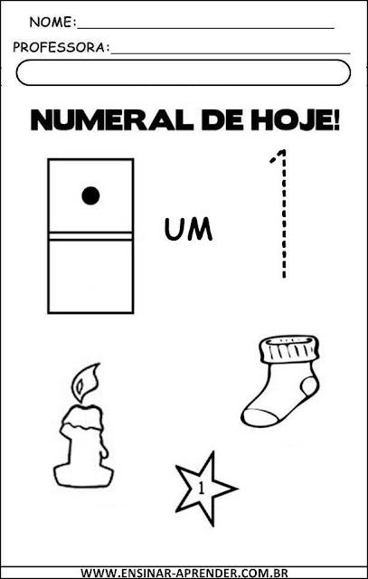 Atividades: de Numerais, Números e Quantidades