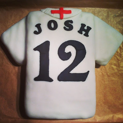 12th Birthday England Football Shirt Cake