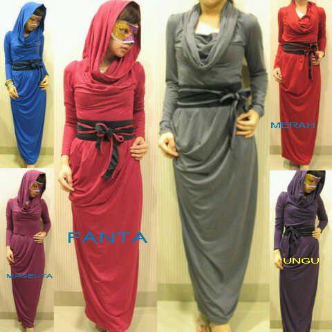 Baju Gamis Model Syahrini Dengan Motif Variasi Payet Model Busana