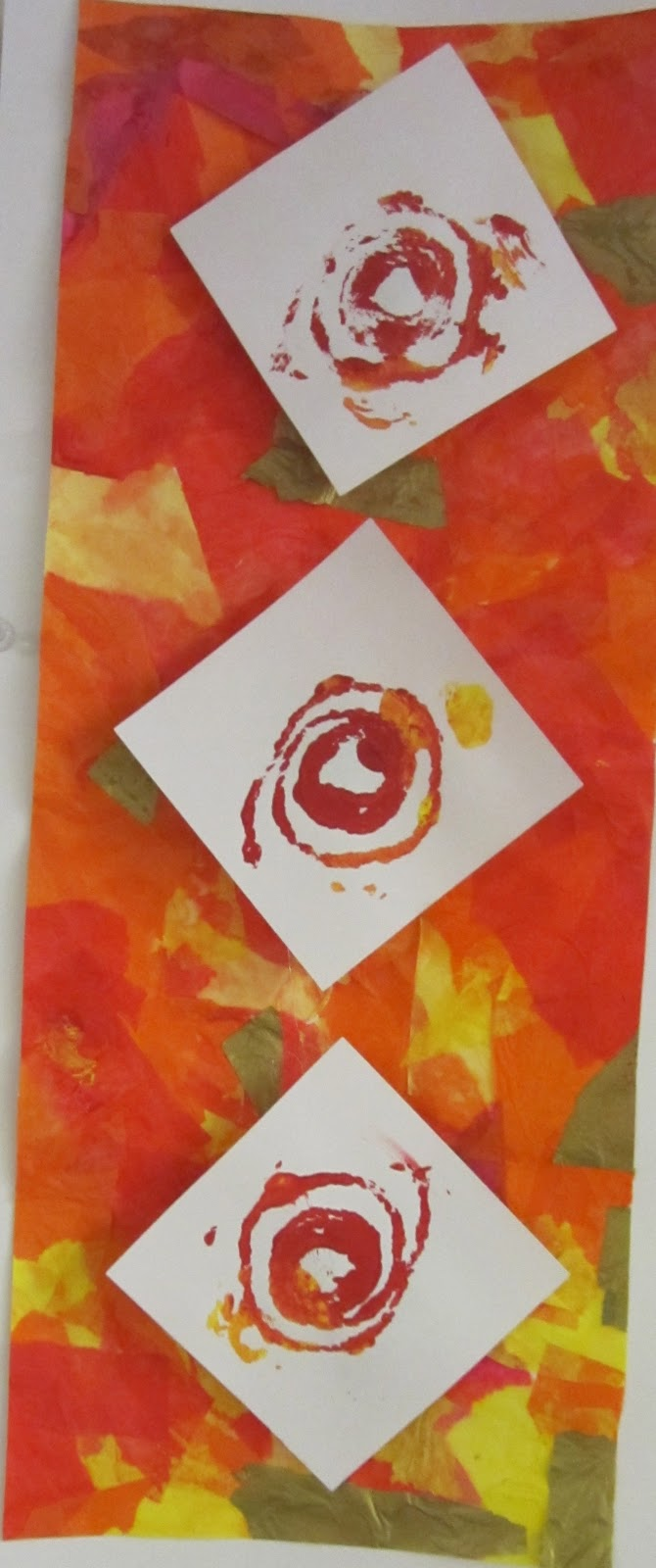 Lesson Plans Tissue Collage And Printmaking