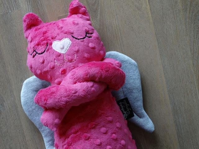 kotek przytulanka do spania róż 4
