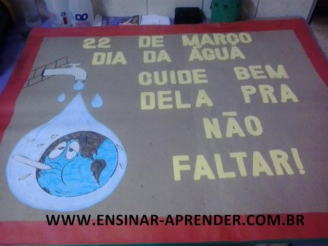 PAINEL DIA DA ÁGUA COM MOLDE