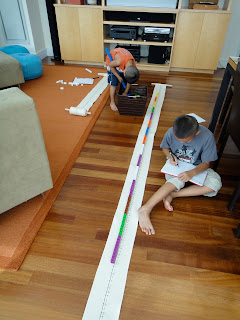 Val's Number Scroll:  Helping kids visualize math