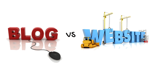 Difference between blogs and websites