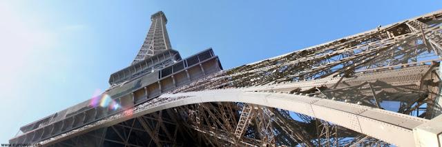 Torre Eiffel vista desde abajo