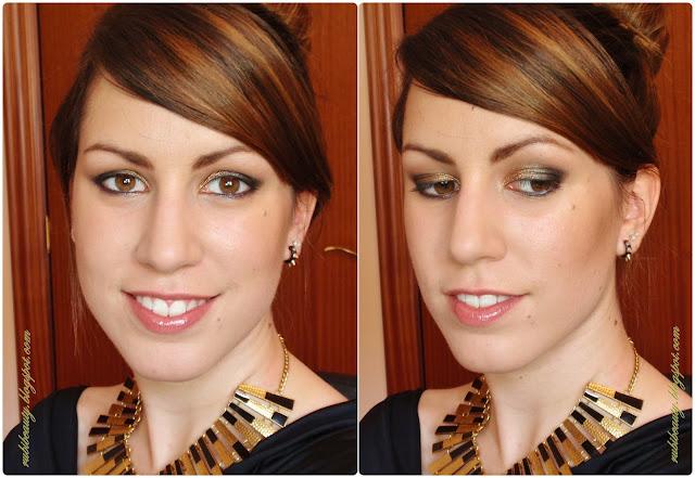 Rubibeauty tutorial makeup look maquillaje noche gold night star paso a paso rostro