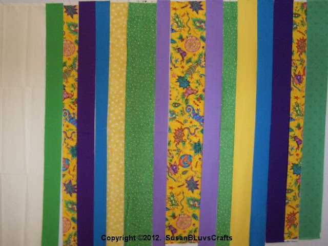 bargello fabric strips