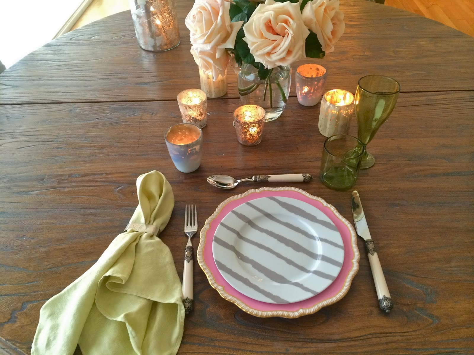 how to create an eclectic dinner set