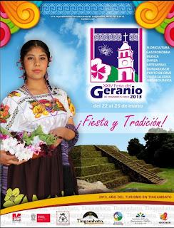 La Feria del Geranio en Tingambato cerca de Pátzcuaro