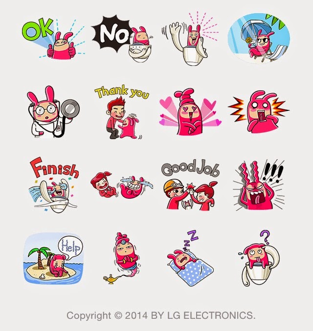 LG HomeChat character stickers