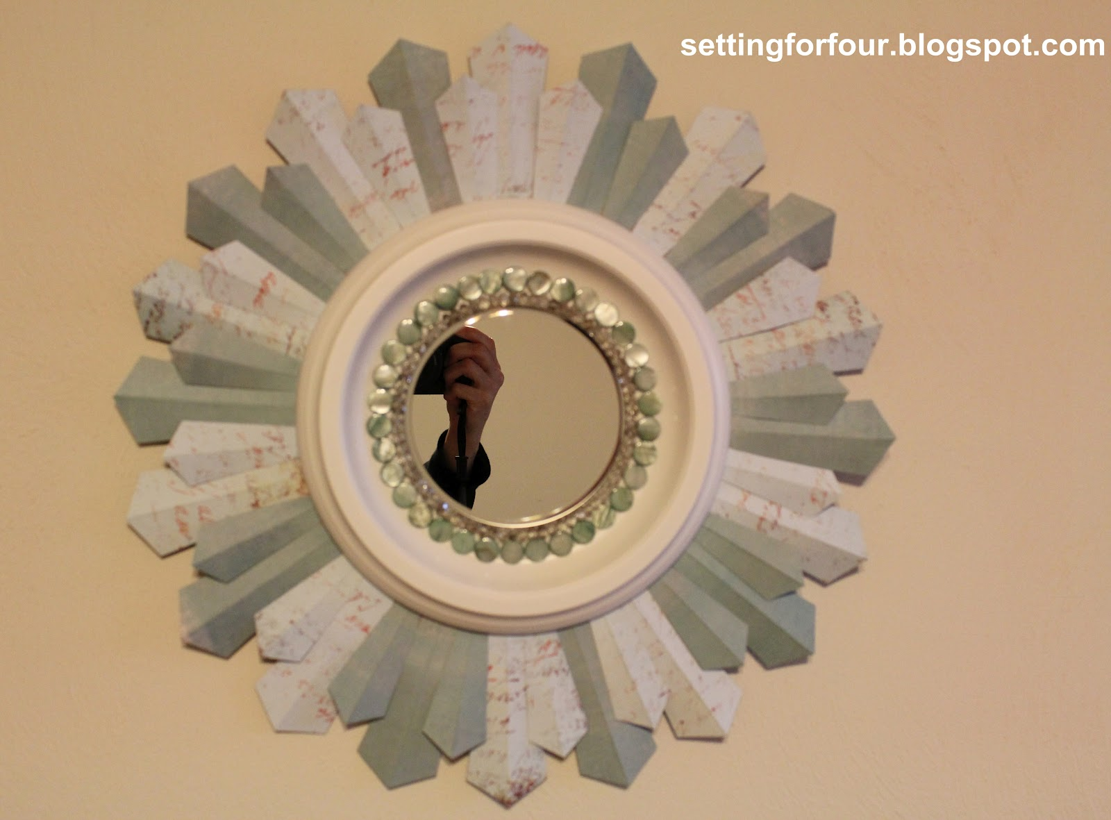 Enjoy your one of a kind DIY Sunburst Mirror DIY