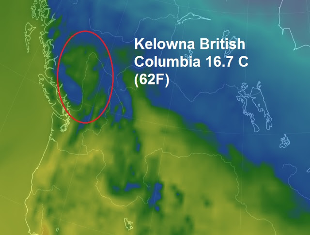 30 year warm record smashed this weekend in Canada's British Columbia