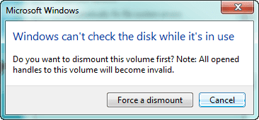 check hard disk errors on Windows 7