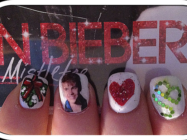 Day 10 - Under the Mistletoe Justin Bieber Nails
