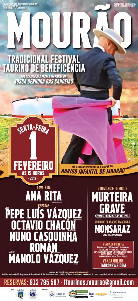 MOURÄO (PORTUGAL) 1º FESTIVAL TAURINO 2019.