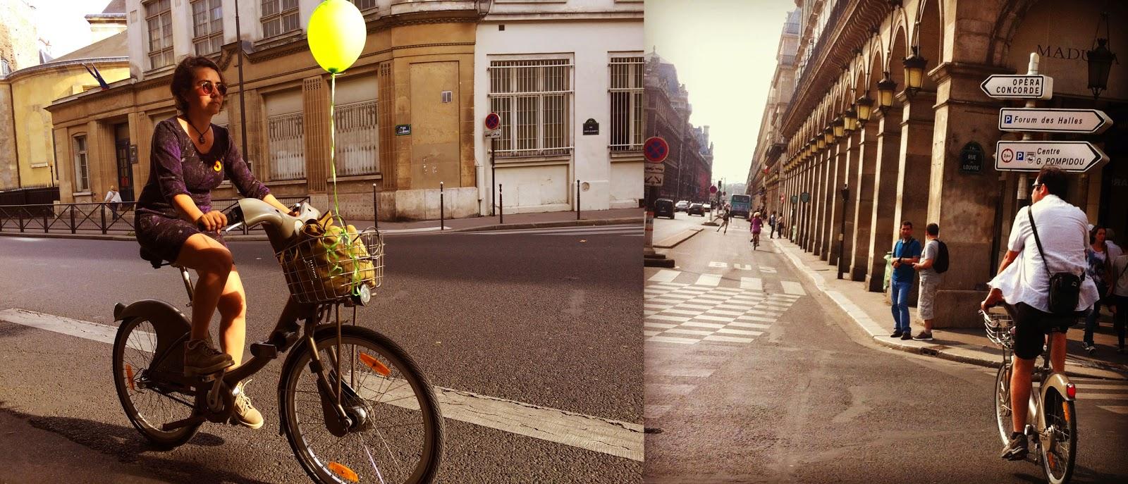 Paris Velib Bisiklet İlkbahar