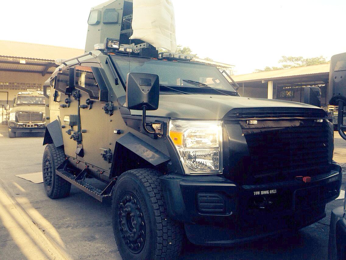 Los Sandcat, la nueva arma de las FF. AA. para combatir el crimen Son 13 vehículos resistentes al impacto de granadas y a disparos de largo alcance