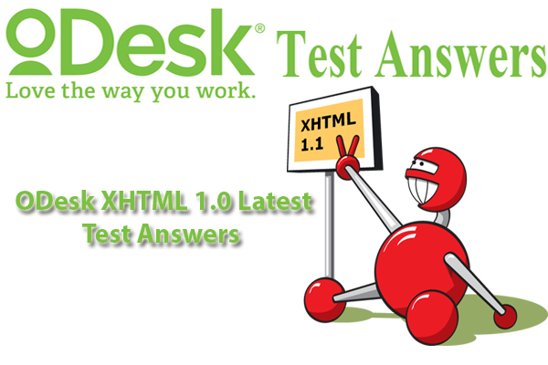 ODesk XHTML Test Answers
