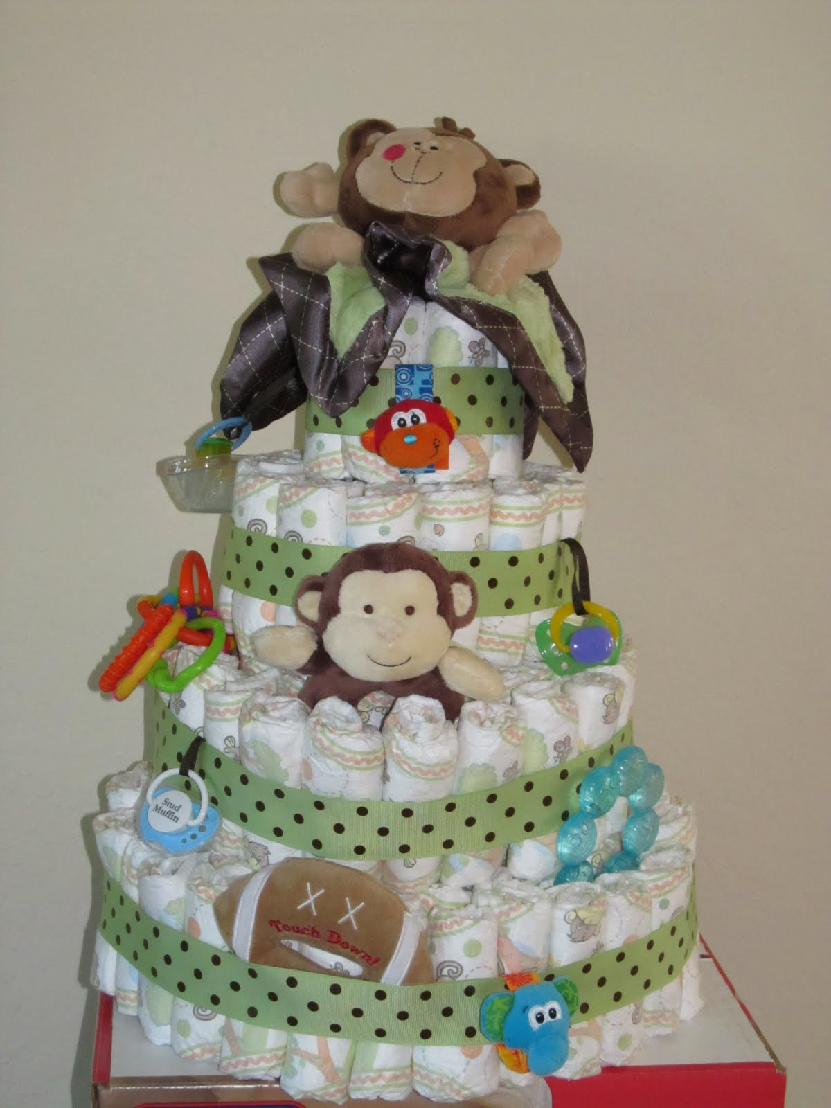 Becky 39 s craft blog baby gifts - Baby shower monkey decorations for a girl ...