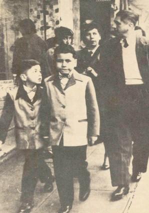 Alan Gacria con su hermano Carlos y su Padre Carlos García Ronceros