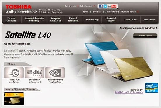 Toshiba Satellite L40 Menjadi Pilihan