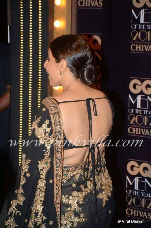vidya balan backless saree pictures