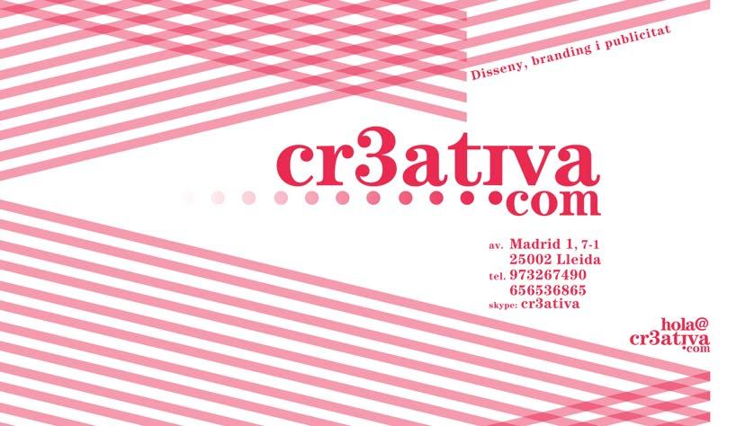 "CR3ATIVA ""Disseny, Branding i Publicitat"" Montse Pociello · Lleida ·"