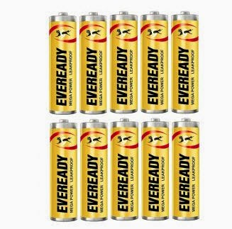 Shopclues: Buy Eveready Heavy Duty AA Battery Pack of 10 + Rs. 1 cashback at Rs. 63
