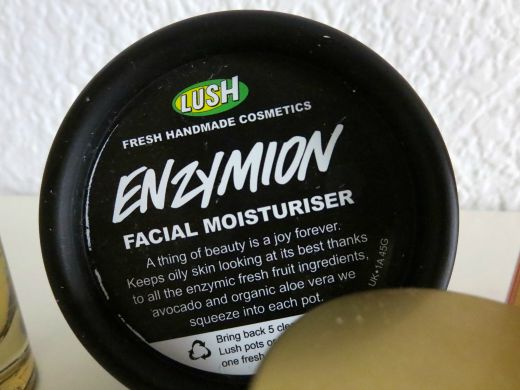 Enzymion facial moisturizer by LUSH