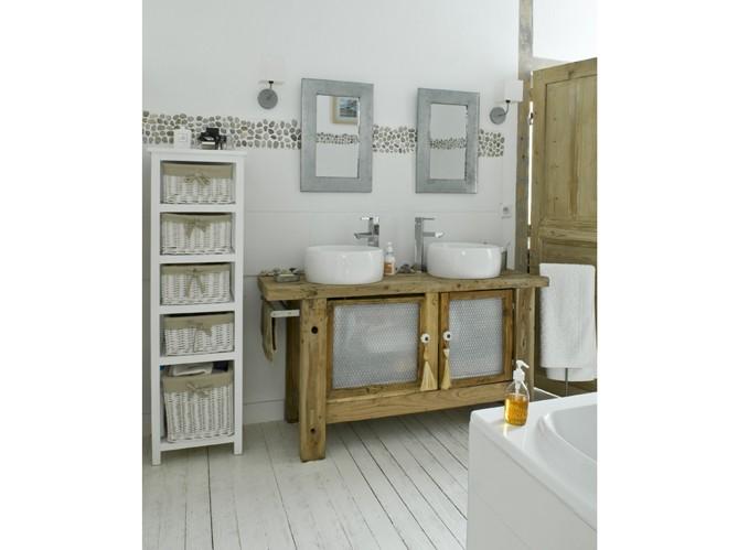 Estilo rustico nuevos sanitarios rusticos ii for Meuble salle de bain ancien en bois