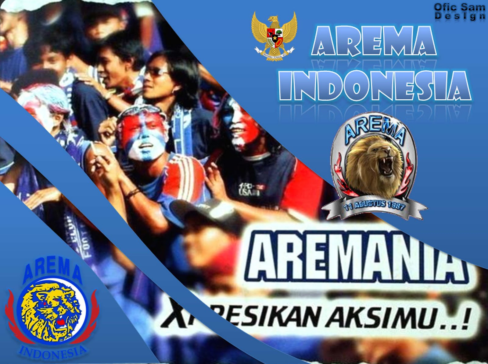 wallpaper AREMA INDONESIA 2011 edisi MEI (Ofic Sam Design)