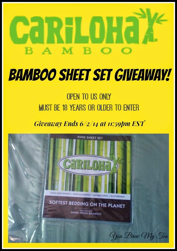 Cariloha Bamboo Sheet Set Giveaway