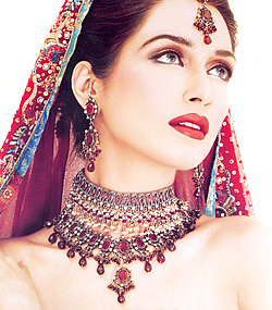 Iman ali beautiful bridal makeup images