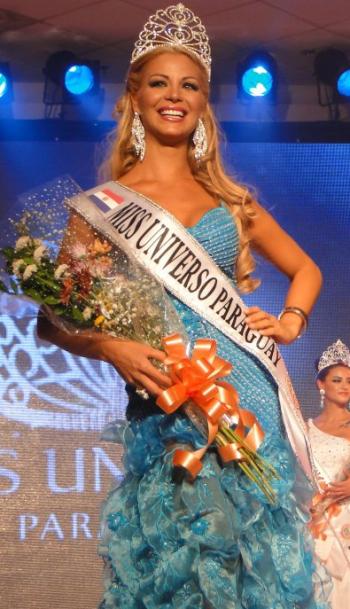 Miss Universe Universo Paraguay 2012 winner Egni Analia Almiron Eckert