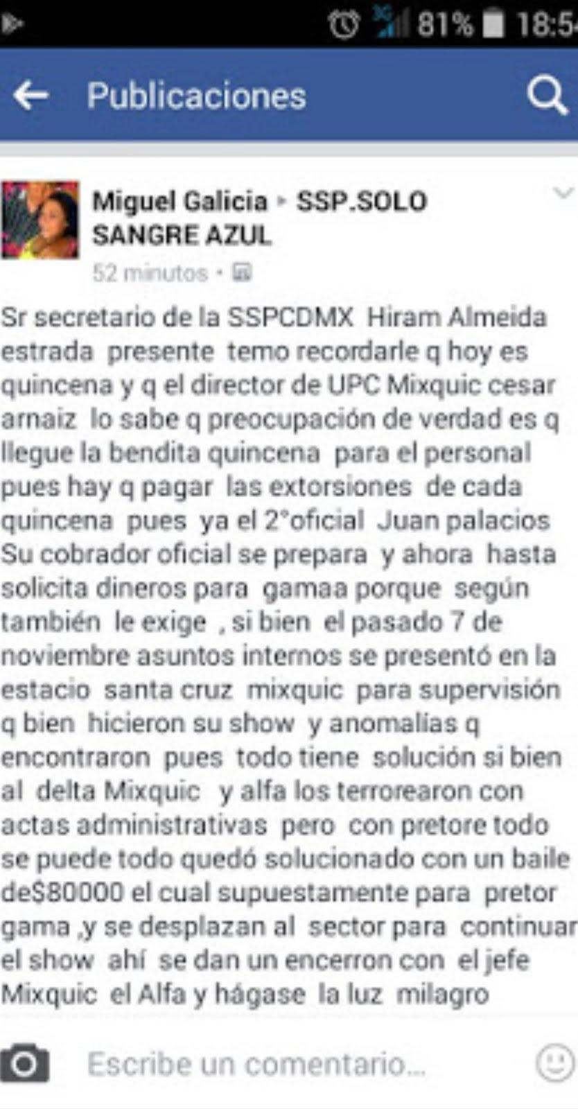 El hediondo tufo de la corrupción policíaca en el sector Mixquic
