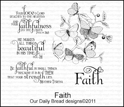 "Our Daily Bread designs ""Faith"""